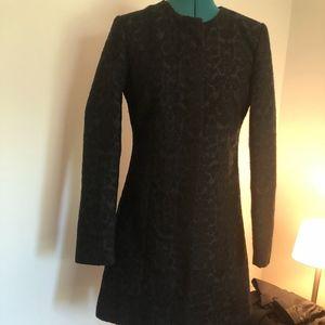 BB Dakota Gorgeous Black Tapestry Coat Small